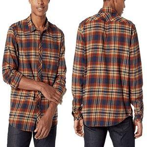 Billabong Cotton Plaid Button Down Flannel Shirt
